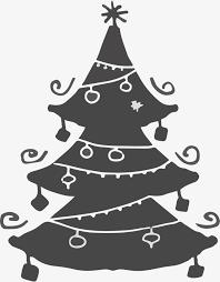 cartoon christmas tree vector png christmas christmas tree png
