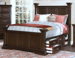 Poster Bed by Wellington Sable California King Storage Poster Bed For 1 269 94