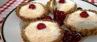 amour cuisine puit d amour tartlets well of custard coconut tartlets