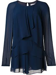 Nicole Miller Decorative Pillows by Nicole Miller Skirts Nicole Miller Layered Jumpsuit Navy Women