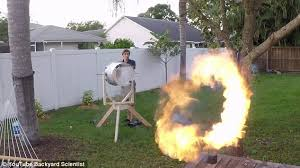 Youtube Backyard Fights Daredevil Scientist Creates U0027vortex Cannon U0027 That Shoots Massive