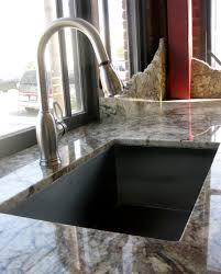 Undermount Sink In Butcher Block Countertop by Granite Typhoon Bordeaux With Undermount Sink In Showroom