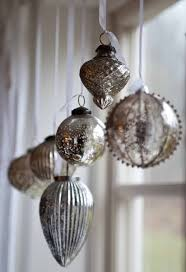 window decoration silver tree ornaments