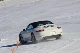 porsche snow winter driving with porsche