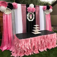 minnie mouse table set minnie mouse birthday party main table set up by bella party decor