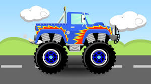 youtube monster trucks racing blue monster truck cartoon 1 monster trucks for kids youtube