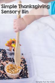 simple thanksgiving sensory bin simple for