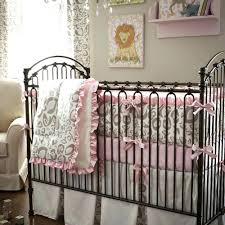 Animal Print Crib Bedding Sets Decoration Pink Leopard Crib Bedding Set And Gray Animal Print