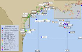 map of the gulf of mexico ndbc gulf of mexico recent marine data