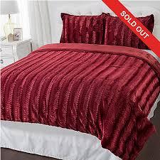 Fur Bed Set North Shore Living Sculpted Faux Fur 3 Piece Comforter Set