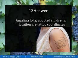 quiz sui tattoo college general quiz arcania isbf