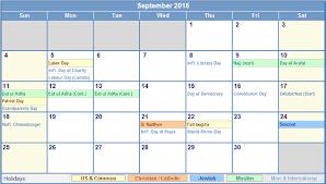 get printable calendar september 2016 calendar with holidays uk