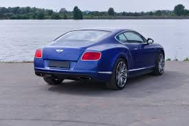 bentley used car continental gt speed blue