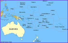island on map pacific island regional maps