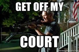 Get Off My Lawn Meme - get off my court clint eastwood get off my lawn meme generator