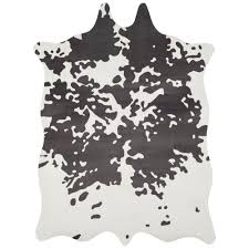 Faux Cowhide Area Rug Safavieh Faux Hide Grey White 5 Ft X 6 Ft 6 In Area Rug Fah160c
