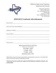 ordering high school yearbooks business ad order form