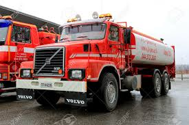 volvo truck of the year salo finland april 12 2015 volvo n12 tank truck year 1988
