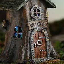 miniature resin light up tree house garden miniatures