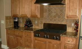 Travertine Tile Kitchen Backsplash Good Looking U Shape Kitchen Design Using Black Granite Kitchen