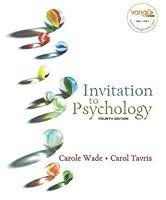 invitation to psychology by carole wade