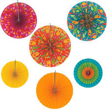 paper fans mexican party supplies at amols party supplies