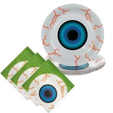scary eyeball party tableware 8 guests party tableware