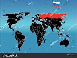 World Map With Flags World Map Flag Russia Stock Vector 11249263 Shutterstock
