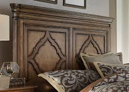 Antique Finish Bedroom Furniture by Birch Solids And Birch Veneers Queen Bed In Antique Toffee Finish
