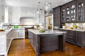27 modern craftsman kitchen two toned stained kitchen island