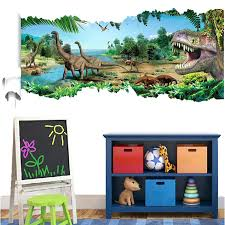 Bedroom Wall Canvases Wall Ideas Dinosaur Wall Art Stretched Canvas Hd Printed Cartoon