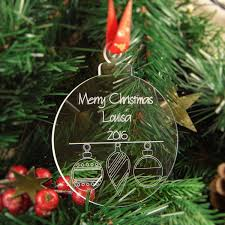 personalised christmas tree decoration engraved bauble gift