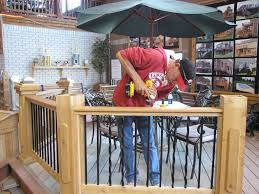 How To Install Banister The Deck Barn How To Install Metal Spindles