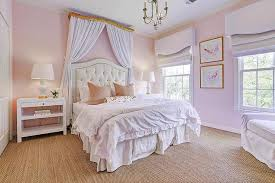 Pink And Gold Bedroom - green and pink girls bedroom with gold lamps transitional