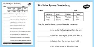 the earth and beyond activity sheets ks2 science page 1