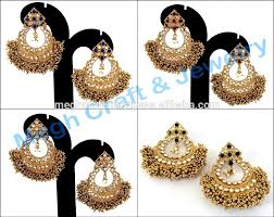 Bridal Chandelier Earrings Punjabi Wedding Wear Chandelier Earring Heavy Kundan Wedding