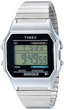 Indiglo Night Light Timex Stainless Steel Case Digital Wristwatches Ebay