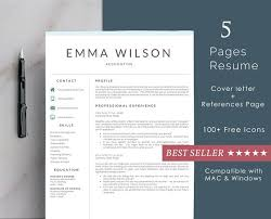 Template For Professional Resume Professional Resume Template 5 Pages Resume Templates Creative