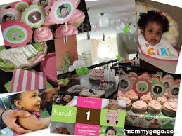 baby girl 1st birthday themes birthday party ideas pink and green owl theme party