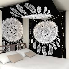 American Flag Tapestry Wall Hanging Black And White Tapestry Black And White Elephant Mandala Tapestry