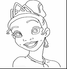 surprising princess halloween coloring pages with princess tiana