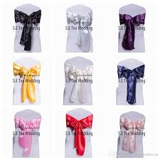satin chair sashes satin chair sash bow for wedding chair cover homecoming sash