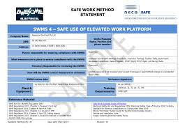 doc 545268 safe work method statements templates u2013 safe work
