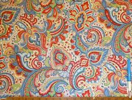 color paisley floral design decorator fabric