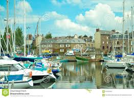 Brittany France Map Boats In Port Binic Brittany France Editorial Stock Photo