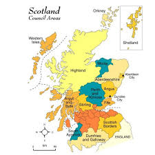 map of scotland and gazetteer for scotland map of scotland