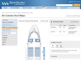 Air Canada Seat Map by Seatguru Seat Map Air Canada Airbus A319 319
