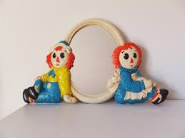 raggedy ann and andy mirror vintage 1970 u0027s 1980 u0027s