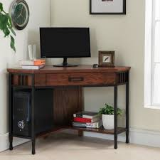 Solid Oak Corner Desk Solid Wood Corner Desks You Ll Wayfair