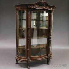 Oak Glazed Display Cabinet Search All Lots Skinner Auctioneers